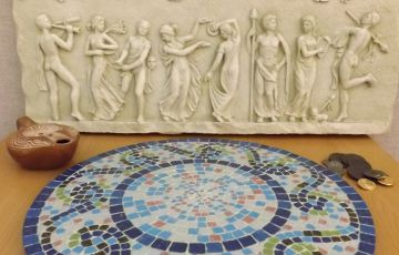 Photo of roman artefacts