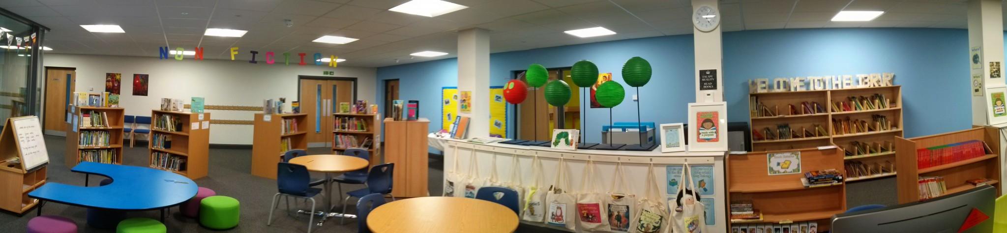 Photo of primary school library