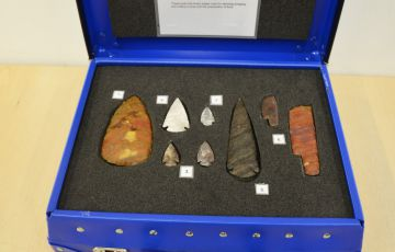 Photo of stone age artefacts