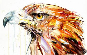 Artwork of a Golden Eagle by