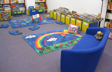Big book area in the library showroom