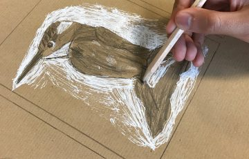 Child's drawing of a kingfisher