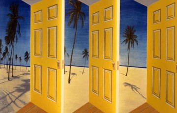 Picture of yellow doors